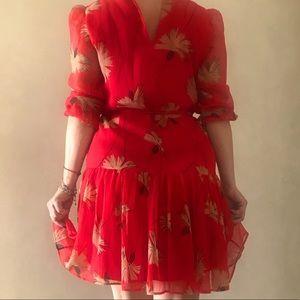 Uterque dress color orange size S